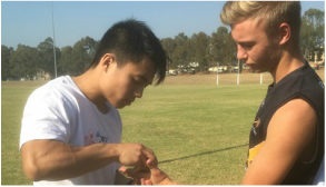 Sports physiotherapy and taping for Moorebank Magpies