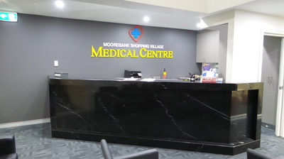 Front reception for Activ Therapy Moorebank and Moorebank Shopping Village Medical Centre